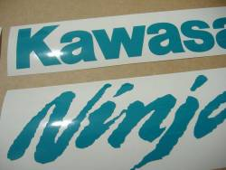 Kawasaki ZX-10R Ninja blue-green stickers emblems