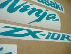 Kawasaki ZX-10R Ninja opal green logo adhesives
