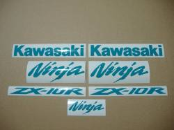 Kawasaki ZX10R 1000 opal green decals set