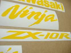 Kawasaki ZX-10R Ninja duck yellow logo graphics