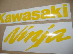 Kawasaki ZX-10R Ninja yellow stickers emblems