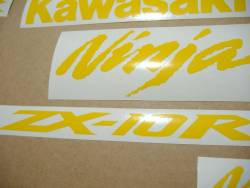 Kawasaki ZX10R 1000 duck yellow stickers kit