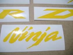 Kawasaki ZX-10R Ninja medium yellow decals set