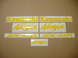 Kawasaki ZX10R 1000 duck yellow decals set