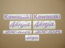 Kawasaki ZX10R 1000 violet purple stickers kit