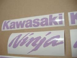 Kawasaki ZX-10R Ninja violet logo adhesives
