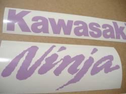 Kawasaki ZX-10R Ninja violet stickers emblems