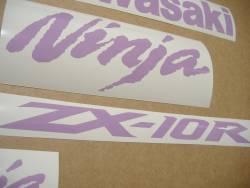 Kawasaki ZX10R 1000 violet logo graphics
