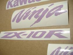 Kawasaki ZX-10R Ninja bright purple decals set