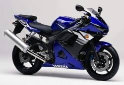 Yamaha R6 2003 RJ05 RJ09 blue stickers