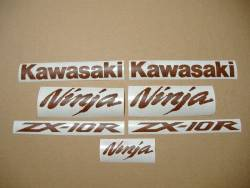 Kawasaki ZX10R 1000 leather imitation decals set