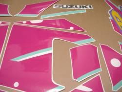 Suzuki GSXR 750N 1992 black pink decals set