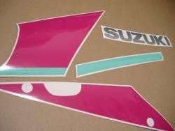 Suzuki GSXR 750N 1992 black pink logo adhesives