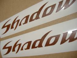Honda VT Shadow leather look gas tank emblems