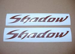 Honda VT Shadow Spirit leather look tank decals