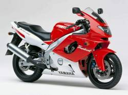 Yamaha YZF 600R 1996 red/white stickers kit