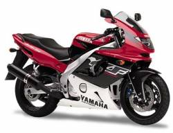 Yamaha YZF 600R 1998 red black decals set