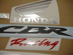 Honda CBR 600RR 2007 black stickers set