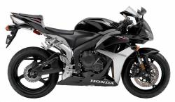 Honda CBR 600RR 2007 black decal set