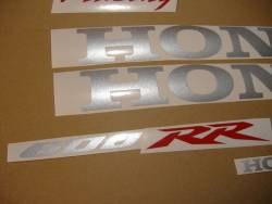 Honda CBR 600RR 2007 black adhesives set