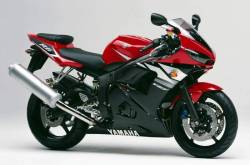 Yamaha YZF R6 2003 5SL red stickers kit