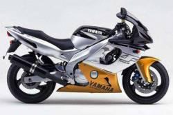 Yamaha Thundercat 2000 black gold logo graphics