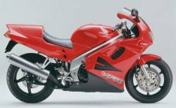 Honda VFR 750 RC36 1994 red reproduction decals