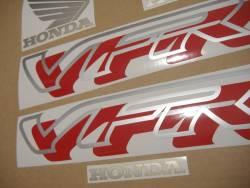 Honda VFR 750 1997 black reproduction stickers