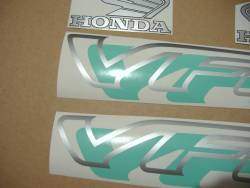 Honda VFR750 RC36 1995 green decals set