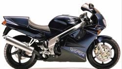 Honda VFR750 RC36 1996 dark blue decals set