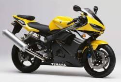 Yamaha YZF R6 2003 RJ05 yellow decal set