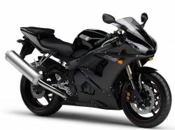 Yamaha R6 2005 RJ05 RJ09 5SL black decals kit