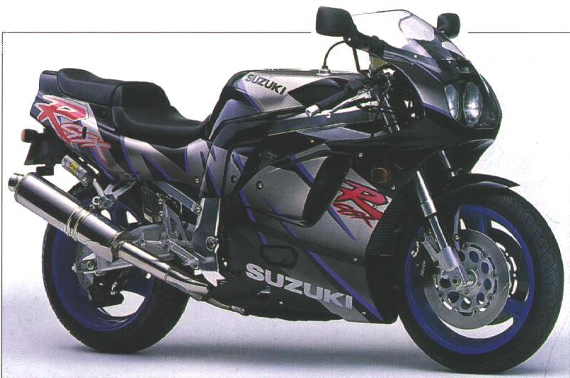 Suzuki GSX-R 750 (WP) 1993 decals set (kit) - black/grey version - Moto-Sticker.com