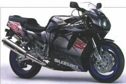 Suzuki GSX-R 750 1993 SRAD black logo labels