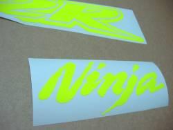 Kawasaki ZX-12R Ninja fluo neon yellow/green decals