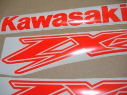 Kawasaki ZX-12R Ninja fluo neon red/orange decals