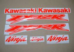 Kawasaki ZX-12R Ninja fluo neon red/orange stickers