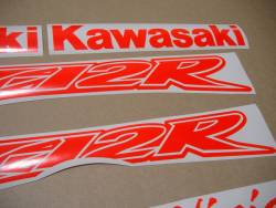 Kawasaki ZX-12R Ninja fluo neon red/orange graphics