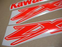 Kawasaki ZX-12R fluo neon red emblems logo set