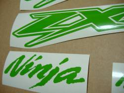 Kawasaki ZX-12R Ninja poison lime green adhesives