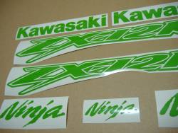 Kawasaki ZX-12R Ninja poison lime green stickers