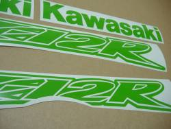 Kawasaki ZX-12R poison lime green emblems logo setZX-12R Ninja fluo neon yellow/green decals