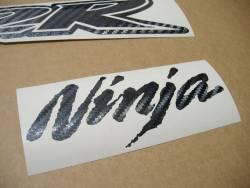 Kawasaki ZX-12R carbon fiber emblems logo set