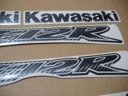 Kawasaki ZX-12R Ninja carbon fiber decals set
