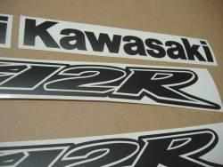 Kawasaki ZX-12R Ninja matte black stickers set