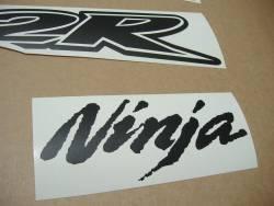 Kawasaki ZX-12R Ninja matte black graphics set