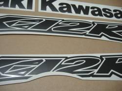 Kawasaki ZX-12R matte black emblems logo set