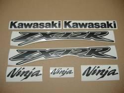 Kawasaki ZX-12R Ninja matte black decals kit
