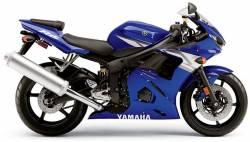 Yamaha R6 2004 RJ05 blue full decals kit