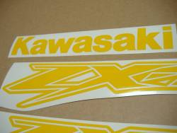 Kawasaki ZX-12R Ninja customized yellow decals